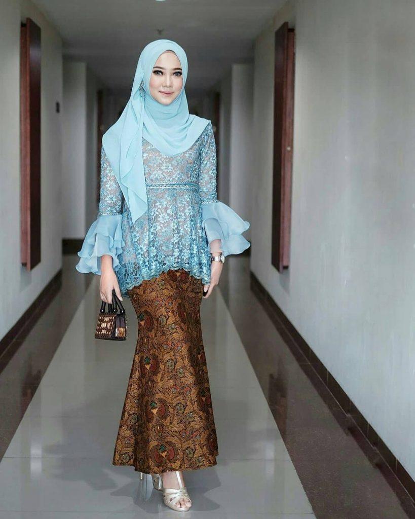 model gamis brokat muslim terbaru