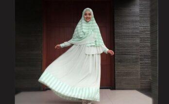 Model Busana Gamis Modern Elegan Nuri Maulida
